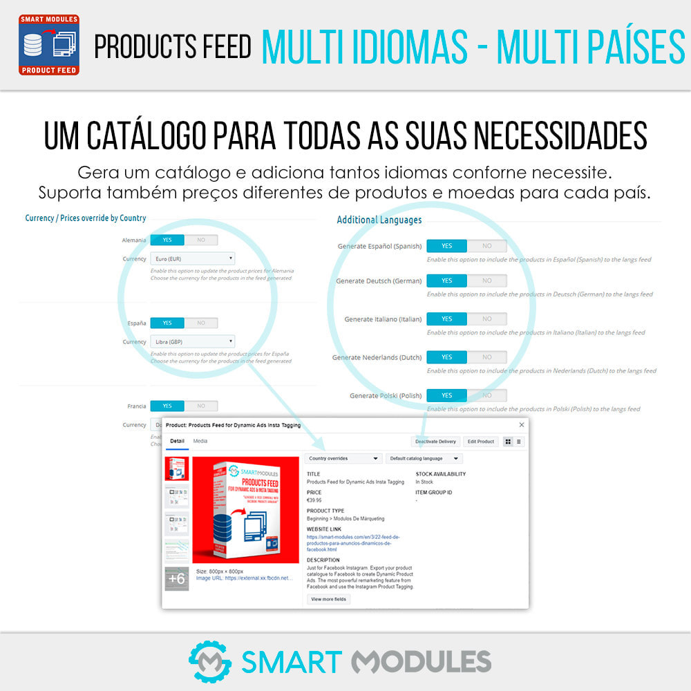 module - SEA SEM pago & Filiação - Feed de Produtos: Anúncios Dinâmicos & Tag & Shop - 3