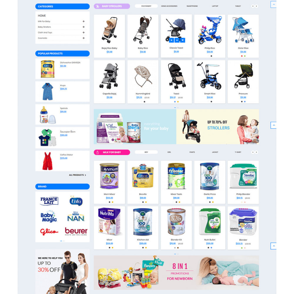 theme - Enfants & Jouets - Baby Kids and Toys - 3