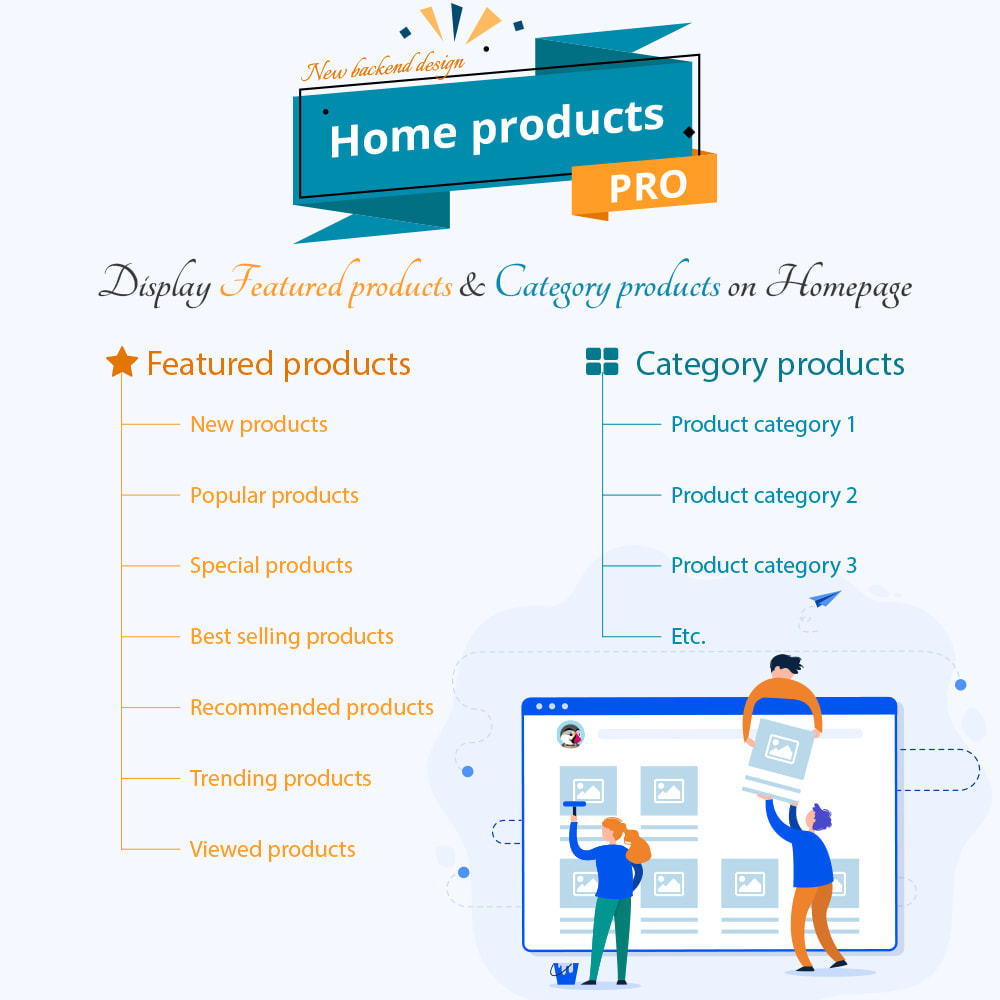 module - Gestão dos Produtos na Página Inicial - Home Products PRO - 1