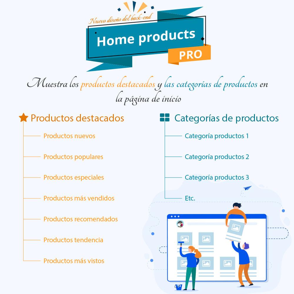 module - Productos en la página de inicio - Home Products PRO - Lista de producto personalizable - 1