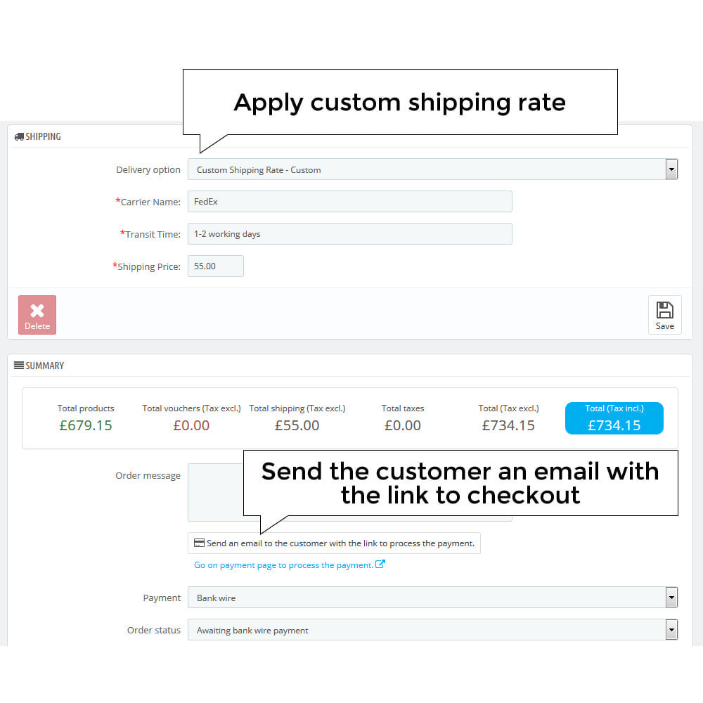 module - Стоимость доставки - Request Shipping Quote - Custom Shipping Rate - 6