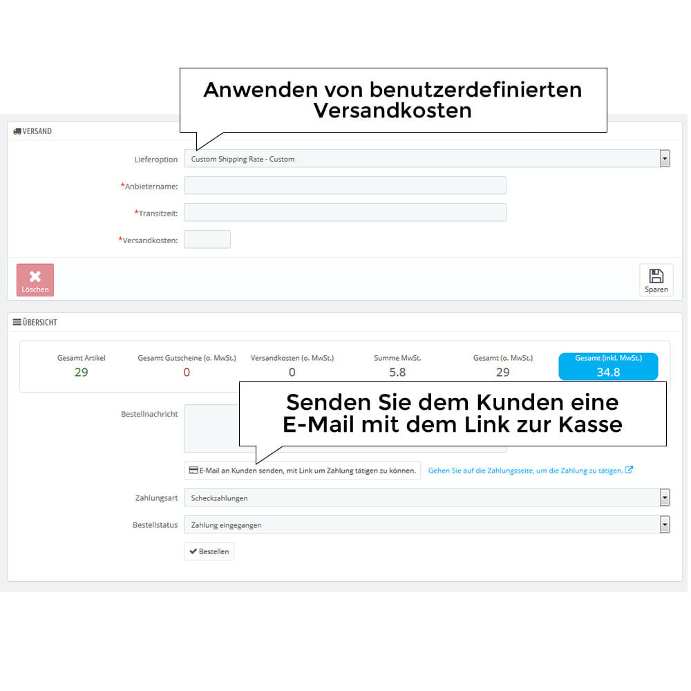 module - Versandkosten - Versandangebot - Kundenspezifische Versandrate - 6