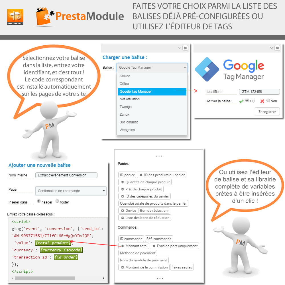 module - Remarketing & Paniers Abandonnés - Advanced Tracking Wizard & Google Tag Manager - 3