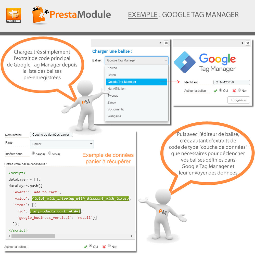 module - Remarketing & Paniers Abandonnés - Advanced Tracking Wizard & Google Tag Manager - 5