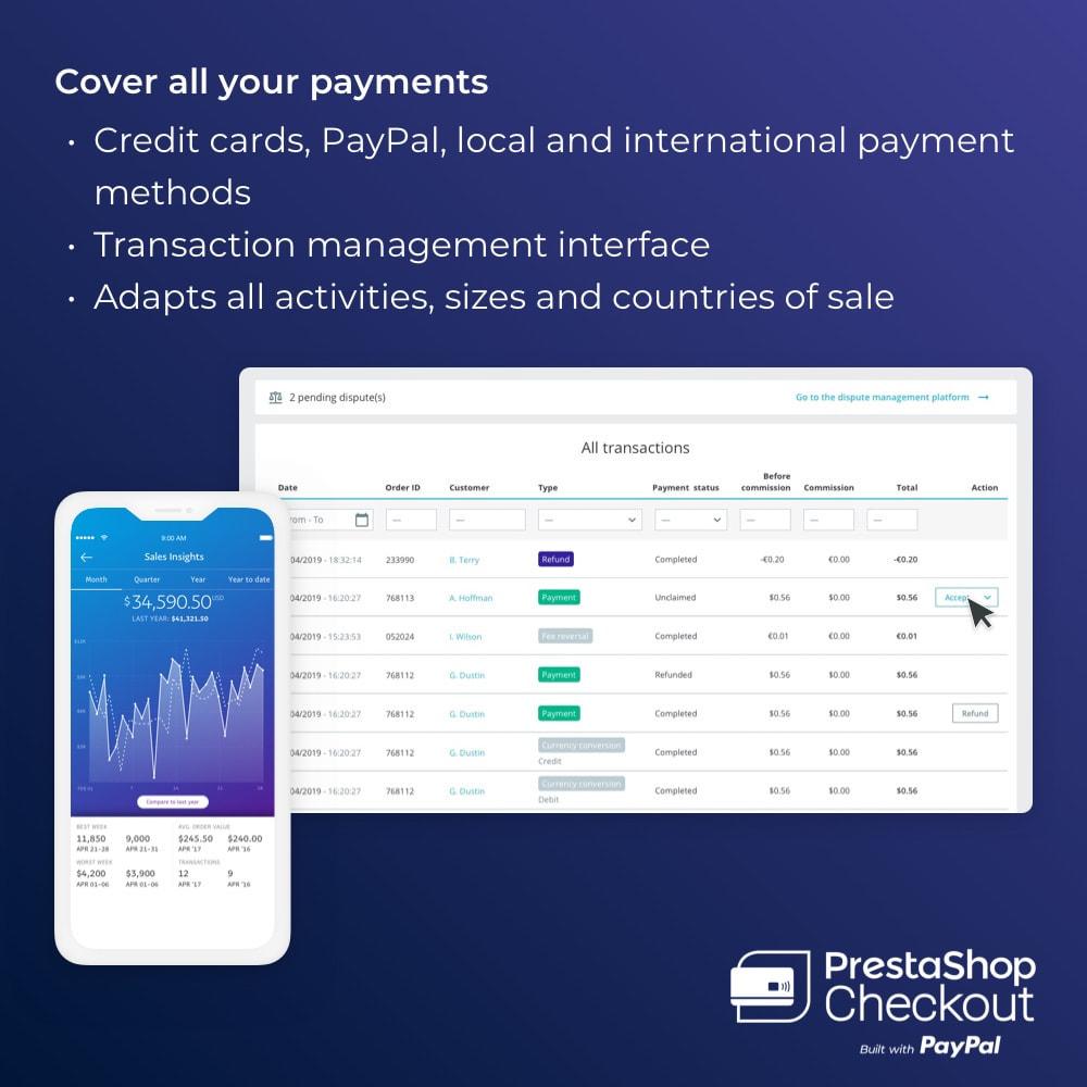 module - Zahlung per Kreditkarte oder Wallet - PrestaShop Checkout built with PayPal - 5