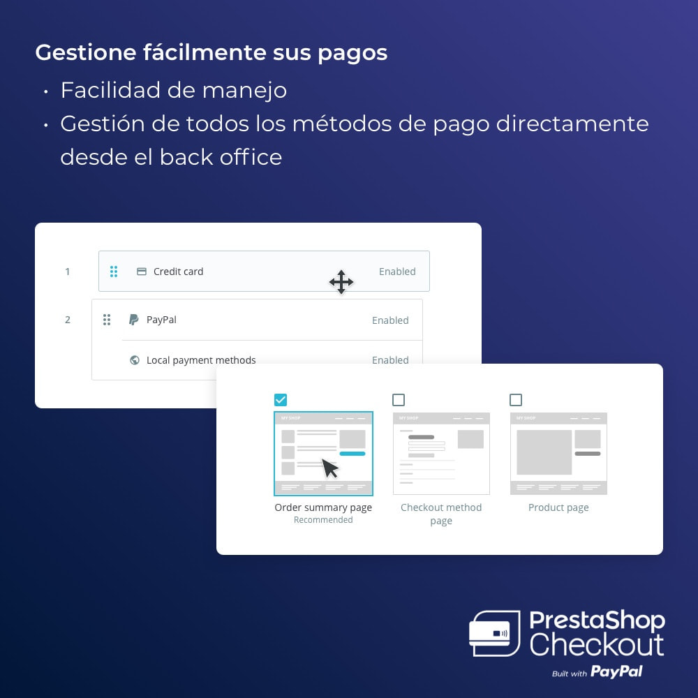 module - Pago con Tarjeta o Carteras digitales - PrestaShop Checkout built with PayPal - 3