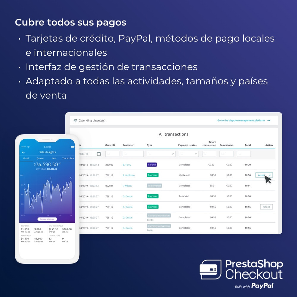 module - Pago con Tarjeta o Carteras digitales - PrestaShop Checkout built with PayPal - 5