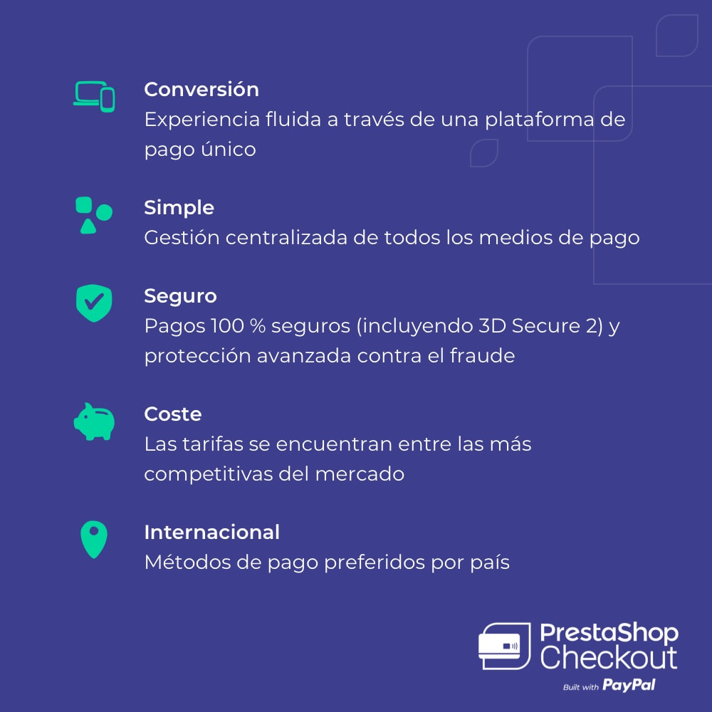 module - Pago con Tarjeta o Carteras digitales - PrestaShop Checkout built with PayPal - 9