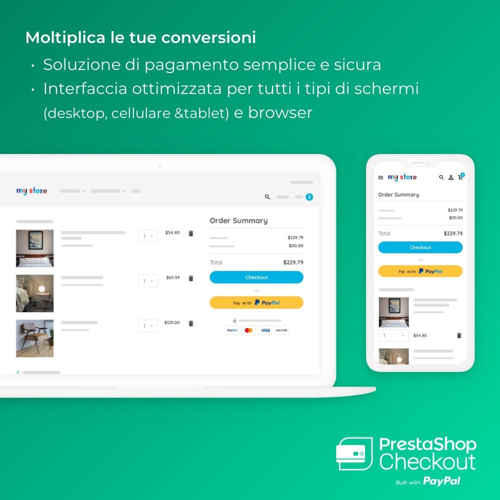 module - Pagamento con Carta di Credito o Wallet - PrestaShop Checkout built with PayPal - 2