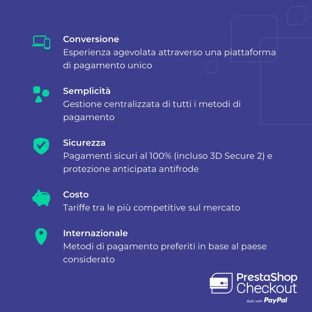 module - Pagamento con Carta di Credito o Wallet - PrestaShop Checkout built with PayPal - 9
