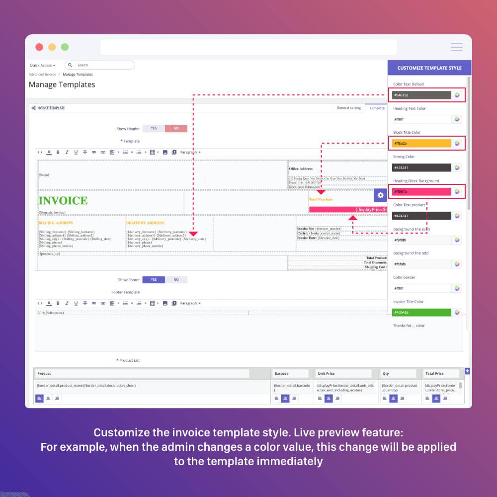 module - Boekhouding en fakturatie - PDF Invoice Template + Delivery + Custom Number - 7