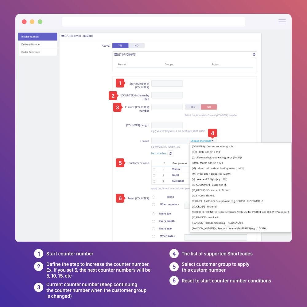 module - Boekhouding en fakturatie - PDF Invoice Template + Delivery + Custom Number - 11
