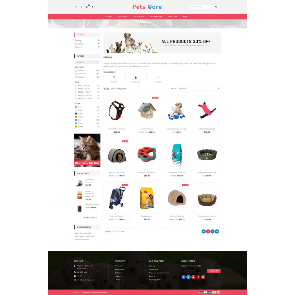 theme - Animaux - Pets Care - Animals Store - 3