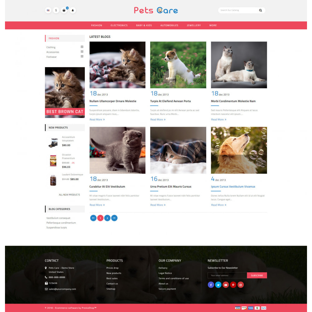 theme - Animaux - Pets Care - Animals Store - 9