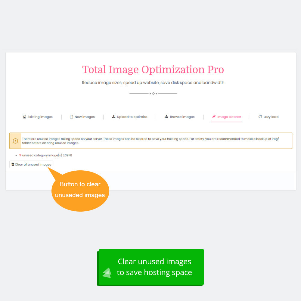 module - Website performantie - Total Image Optimization Pro - Lossless compression - 9
