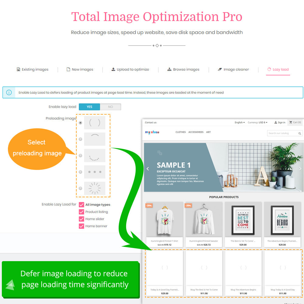 module - Website performantie - Total Image Optimization Pro - Lossless compression - 10