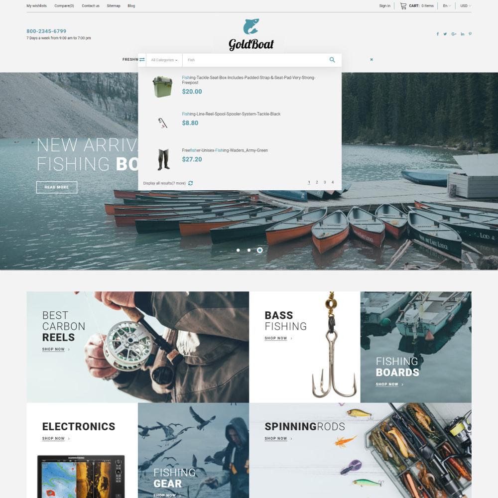theme - Спорт и Путешествия - GoldBoat - Fishing Shop - 2