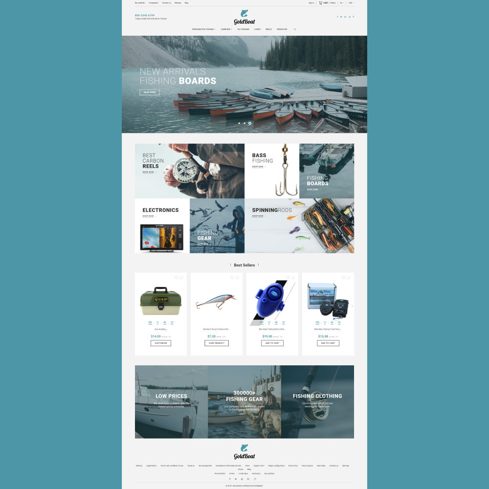 theme - Спорт и Путешествия - GoldBoat - Fishing Shop - 3