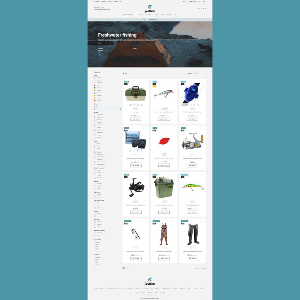 theme - Спорт и Путешествия - GoldBoat - Fishing Shop - 5
