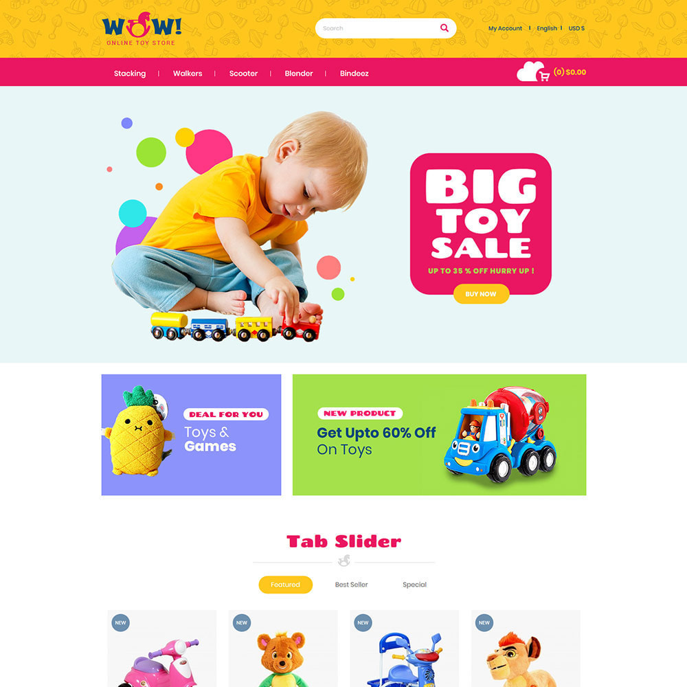 theme - Kids & Toys - Wow Kids - Toys Baby Games Station Store - 2