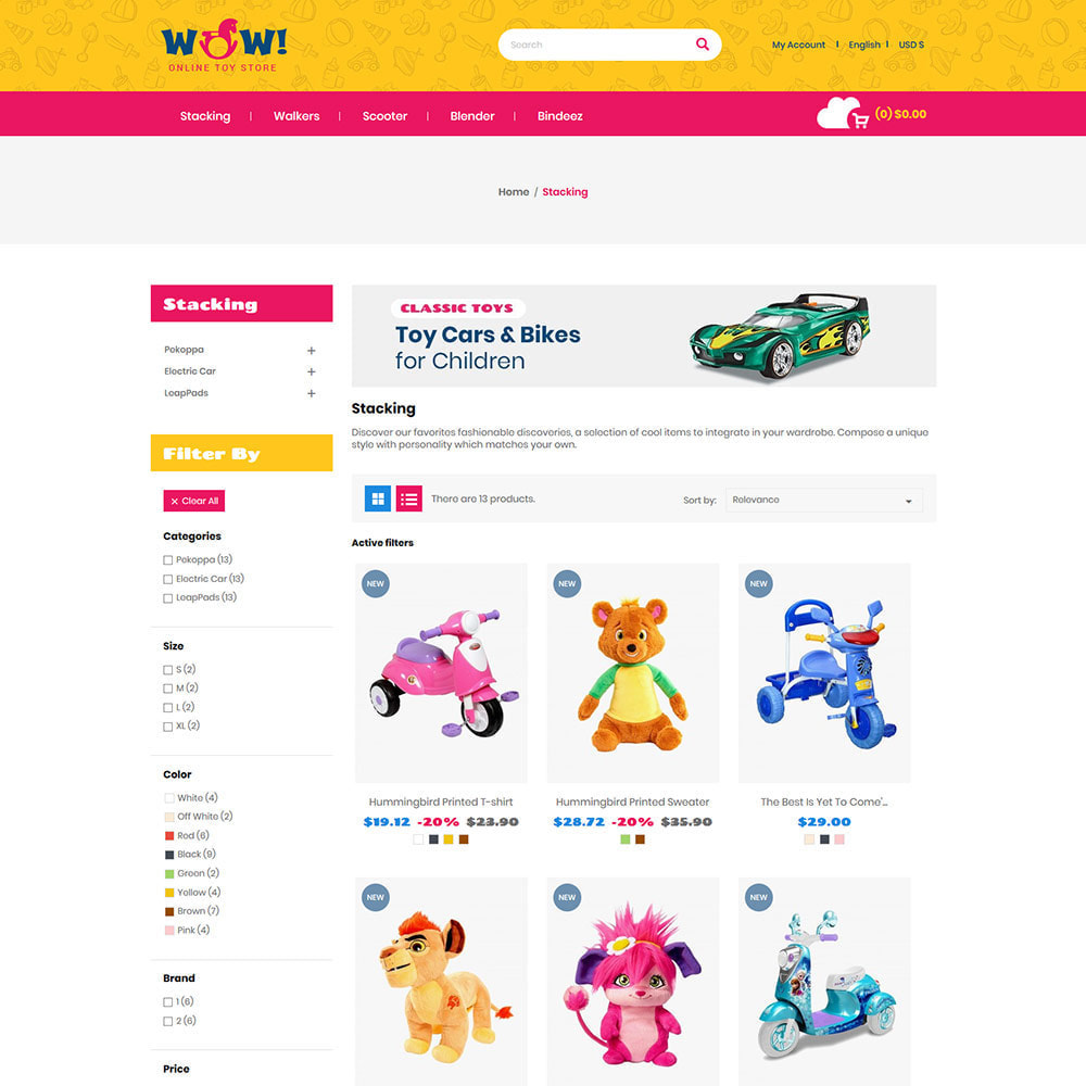 theme - Kids & Toys - Wow Kids - Toys Baby Games Station Store - 3
