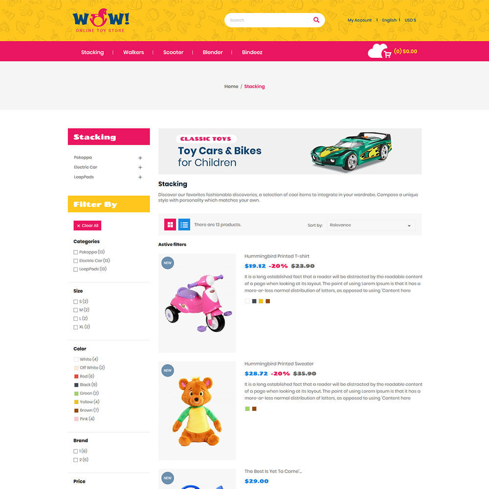 theme - Kids & Toys - Wow Kids - Toys Baby Games Station Store - 4