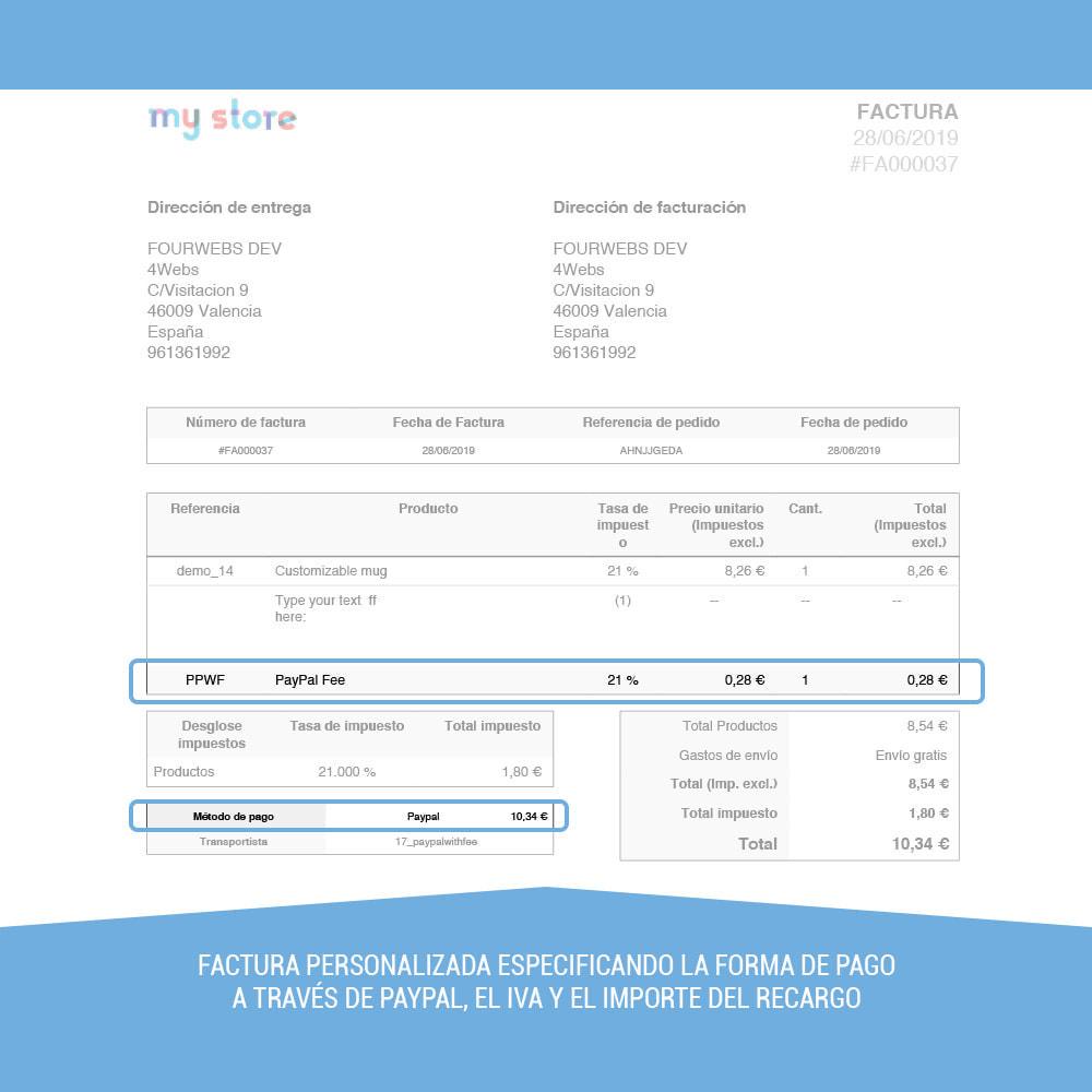 module - Pago con Tarjeta o Carteras digitales - Paypal con recargo - 8