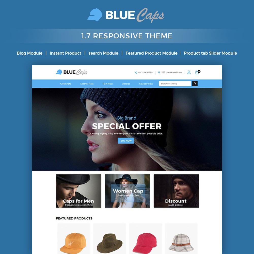 theme - Moda & Calçados - Blue Caps  - Fashion Accessories Hats Store - 1
