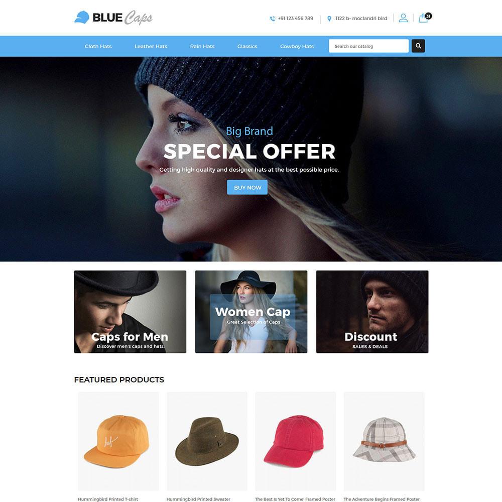 theme - Moda & Calçados - Blue Caps  - Fashion Accessories Hats Store - 2