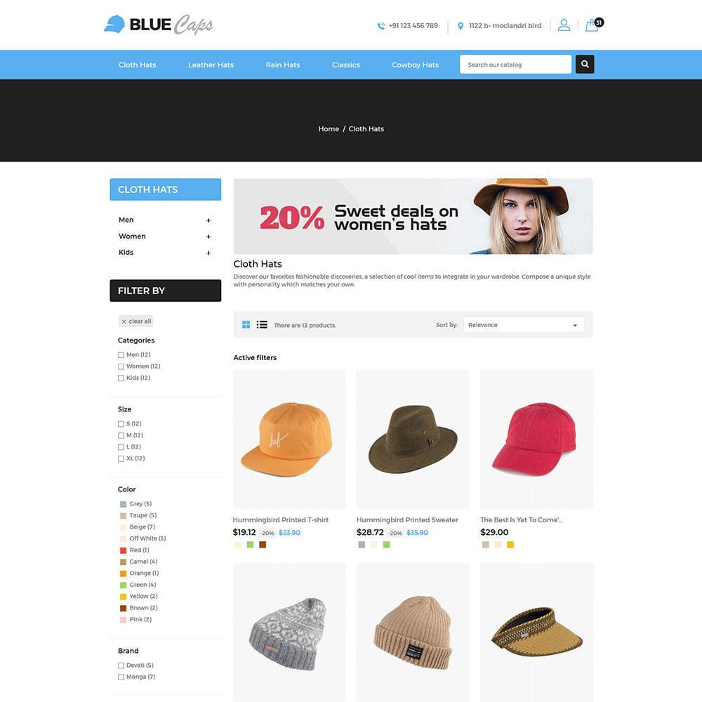 theme - Moda & Calçados - Blue Caps  - Fashion Accessories Hats Store - 3