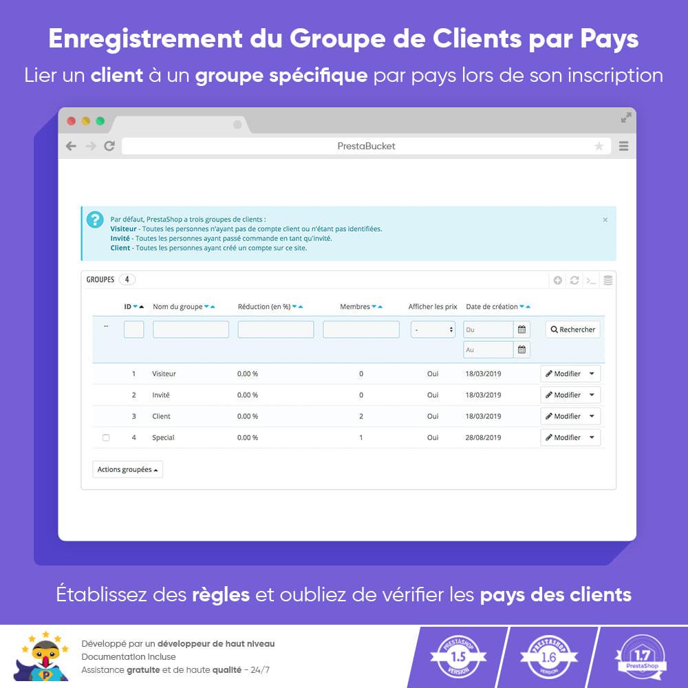 module - Gestion des clients - Enregistrement du Groupe de Clients par Pays - 1