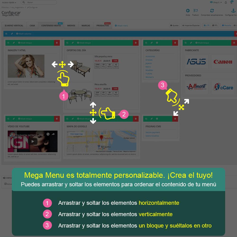 module - Menú - Mega Menu PRO – Arrastra y suelta de forma visual - 8