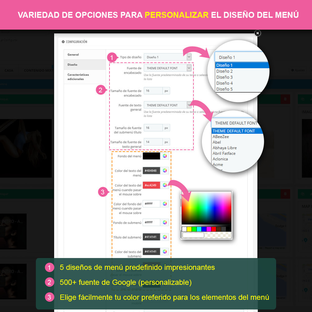 module - Menú - Mega Menu PRO – Arrastra y suelta de forma visual - 12