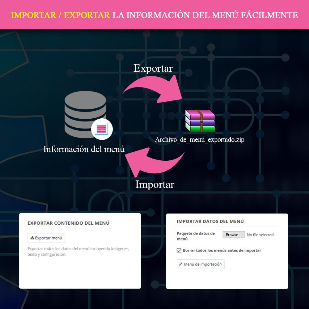 module - Menú - Mega Menu PRO – Arrastra y suelta de forma visual - 14