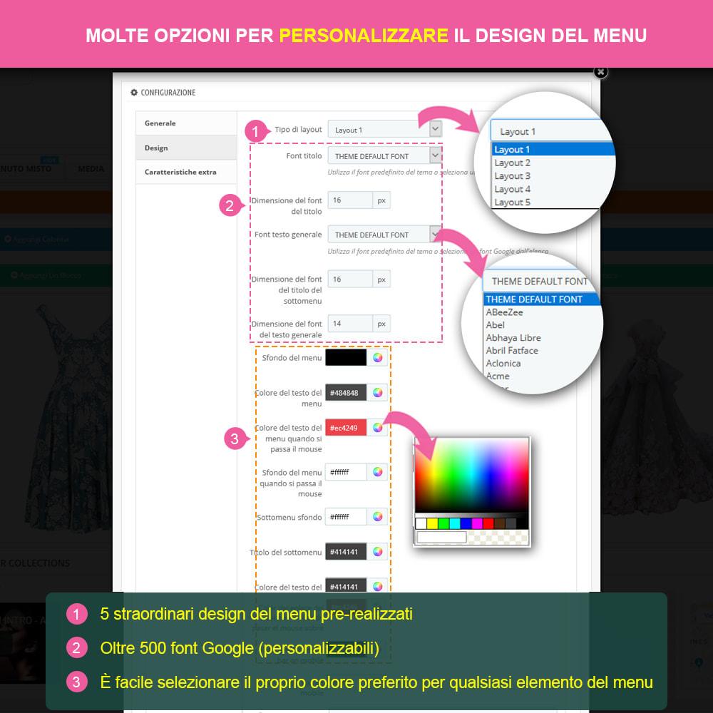 module - Menu - Menu – Drag & drop visivo - 12