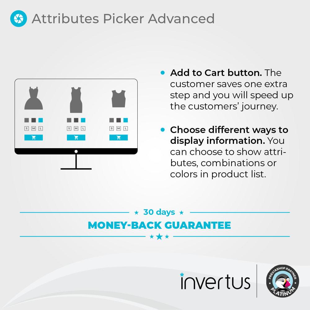 module - Déclinaisons & Personnalisation de produits - Attributes Picker Advanced - Pour le produit - 2