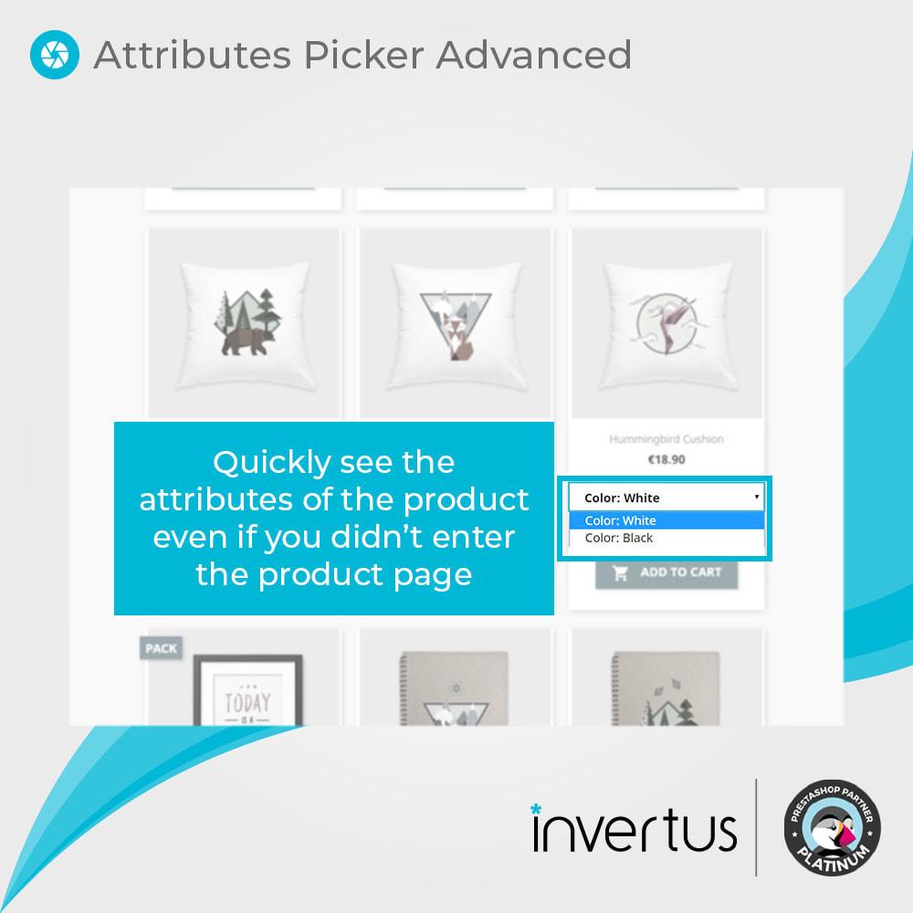 module - Déclinaisons & Personnalisation de produits - Attributes Picker Advanced - Pour le produit - 3