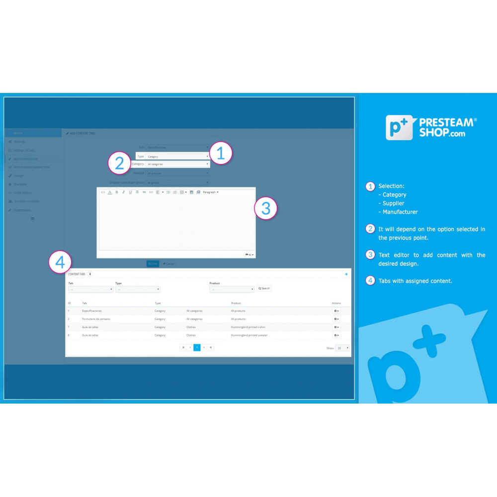 module - Altre informazioni & Product Tab - Product Extra Tabs - Tabs additional information - 9