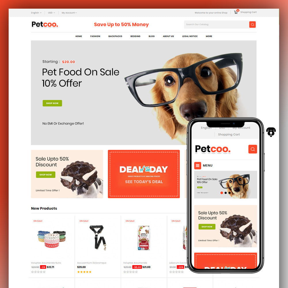 theme - Animaux - Petcoo - Pet Store - 1