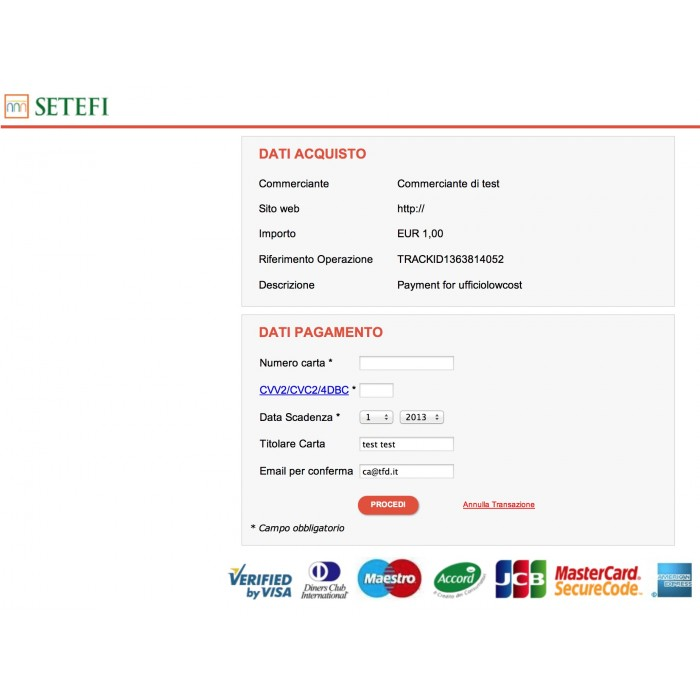module - Pago con Tarjeta o Carteras digitales - Payment Credit Card by setefi Intesa San Paolo NEXI - 2