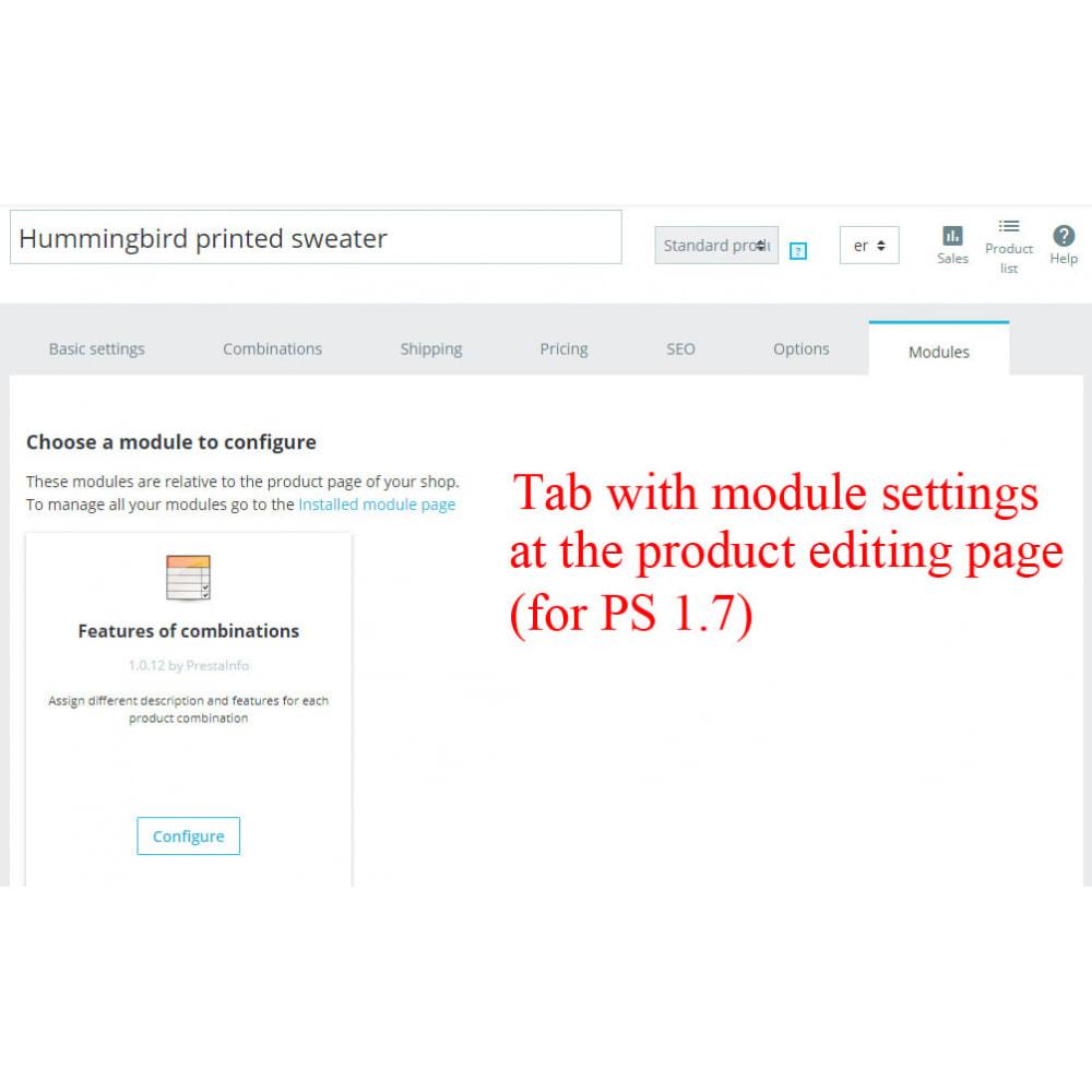 module - Diversificação & Personalização de Produtos - Product combination features CombiFeatures - 4