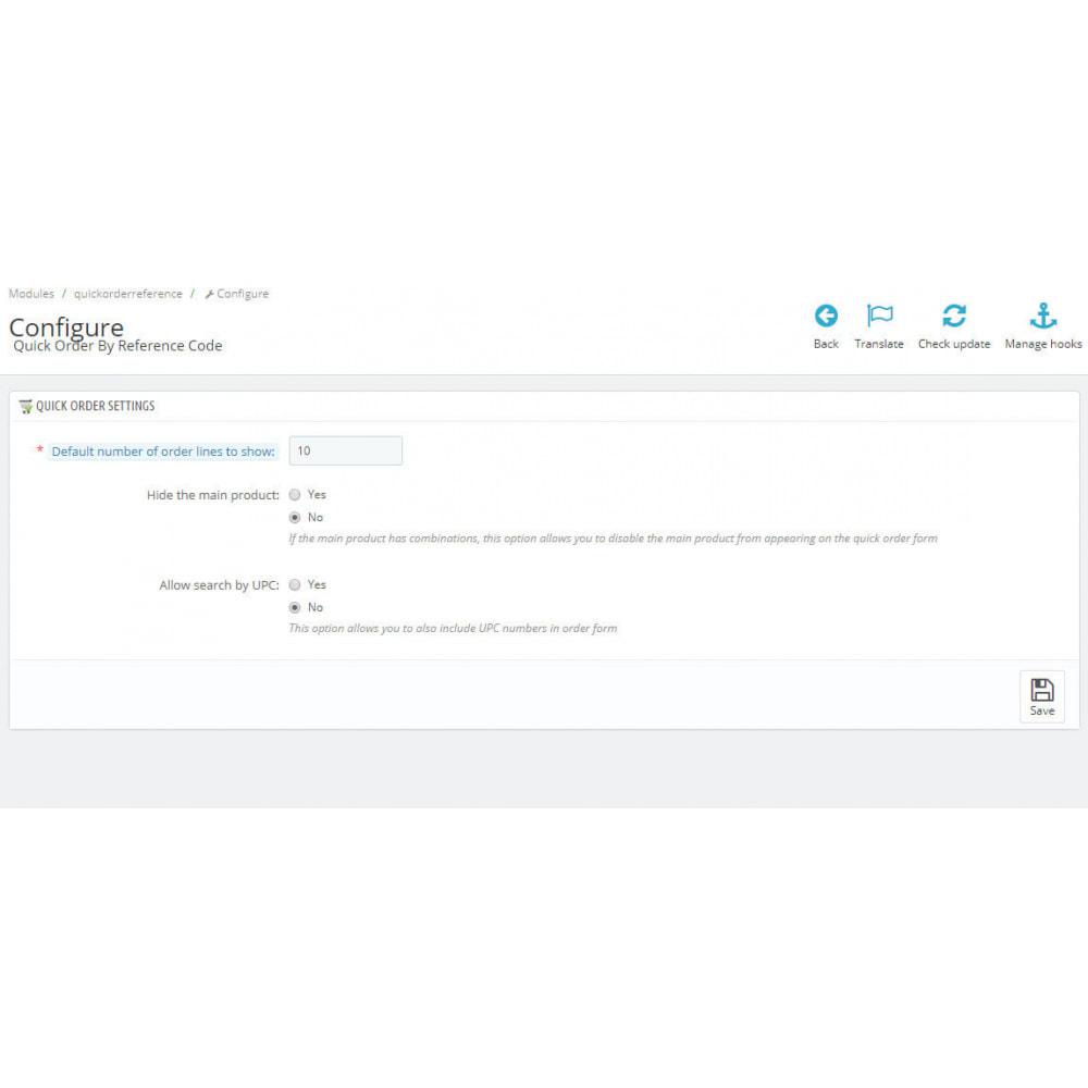 module - Cadastro e Processo de Pedido - Quick Order by Reference Code - 1