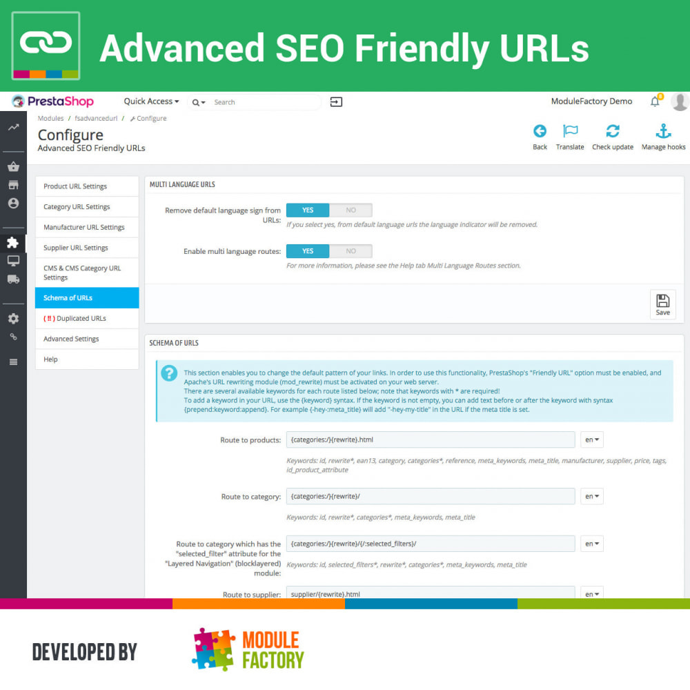 module - Управления адресами URL и перенаправлением - Advanced SEO Friendly URLs - 6