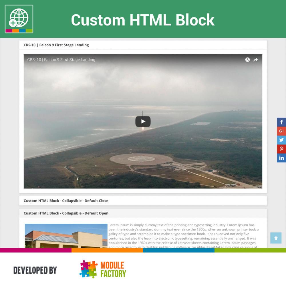 module - Blocks, Tabs & Banners - Custom HTML Block - 1