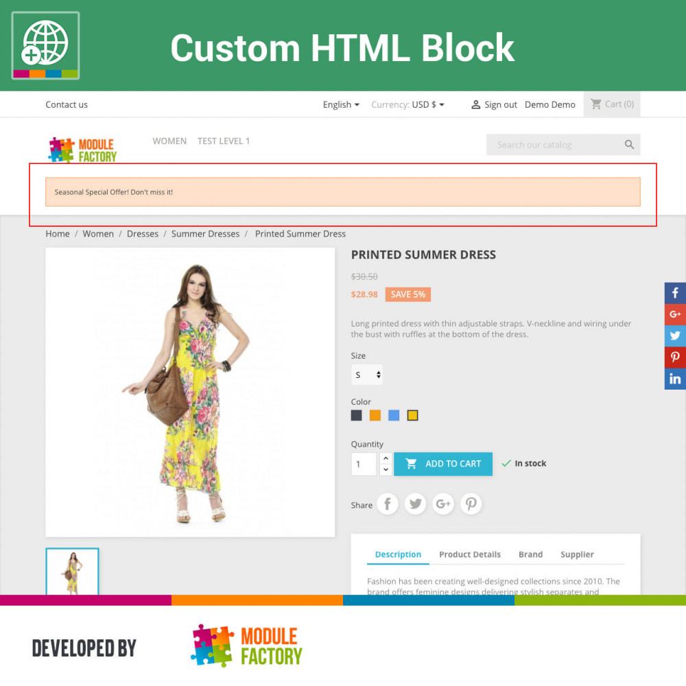 module - Blocks, Tabs & Banners - Custom HTML Block - 5