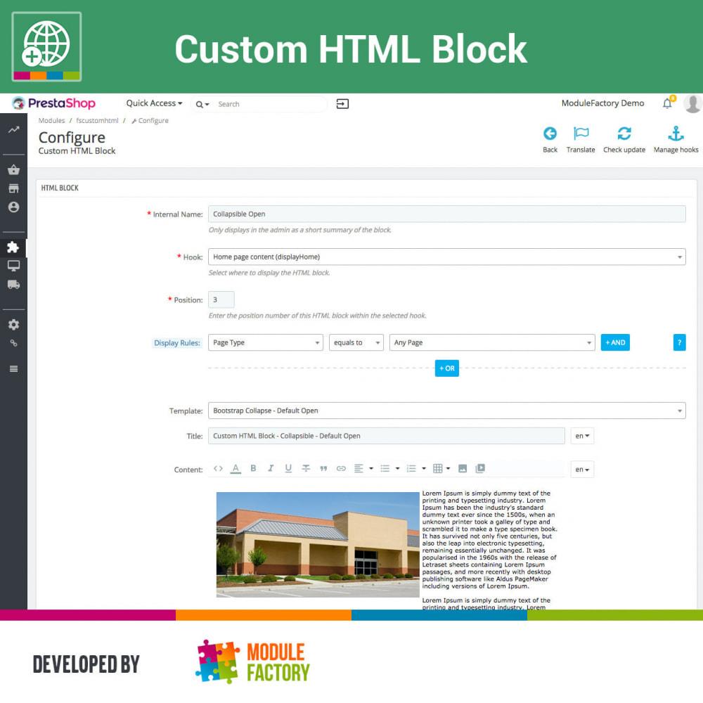 module - Blocks, Tabs & Banners - Custom HTML Block - 9