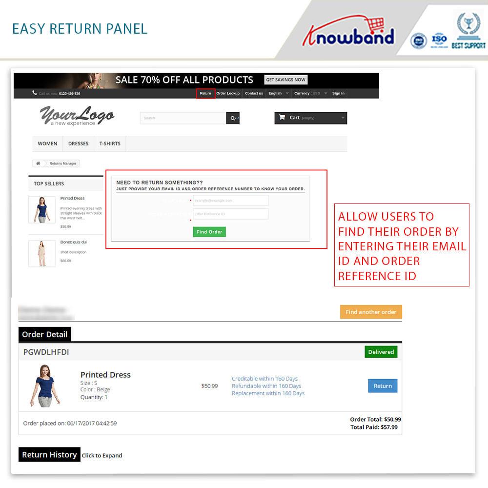 module - Customer Service - Knowband - Order Return Manager(Return Slip & Barcode) - 2