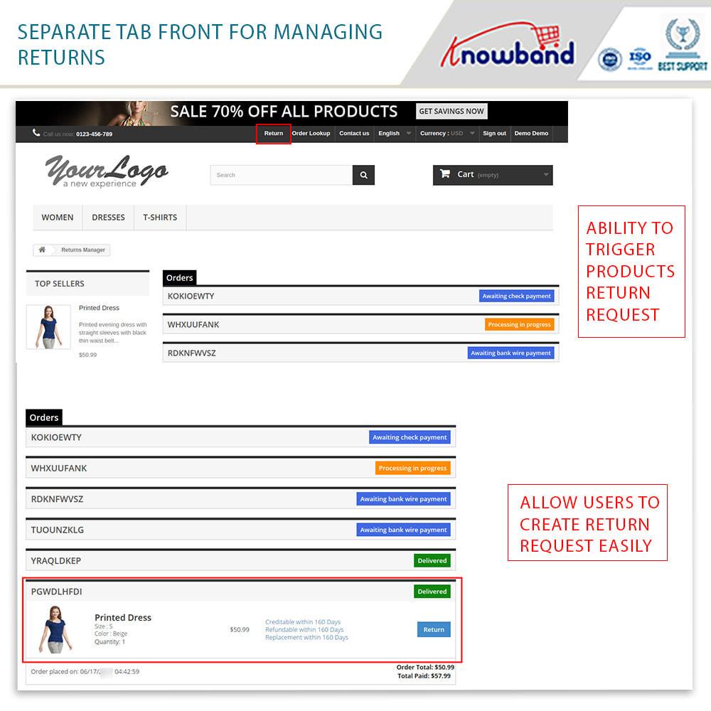 module - Customer Service - Knowband - Order Return Manager(Return Slip & Barcode) - 3