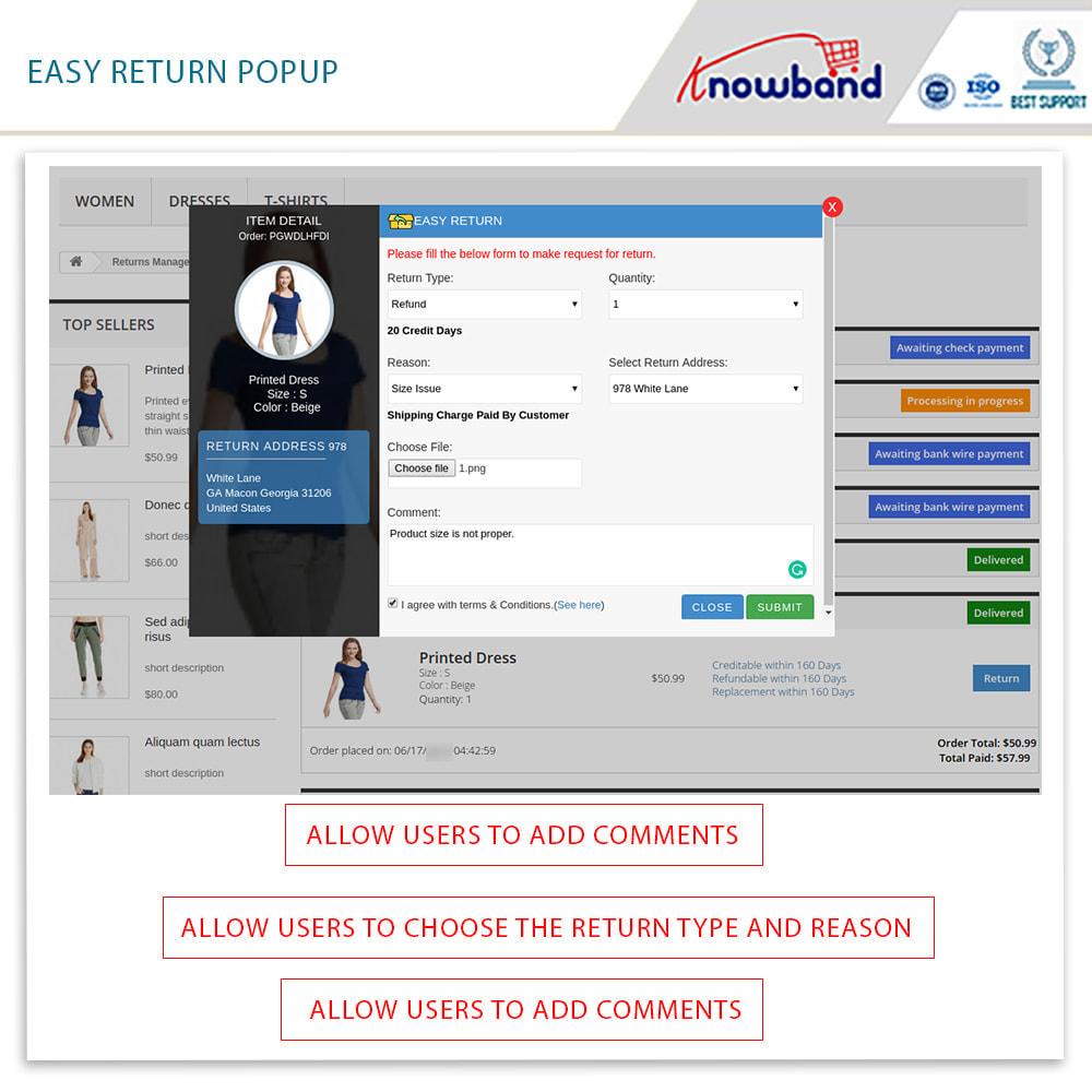 module - Customer Service - Knowband - Order Return Manager(Return Slip & Barcode) - 4