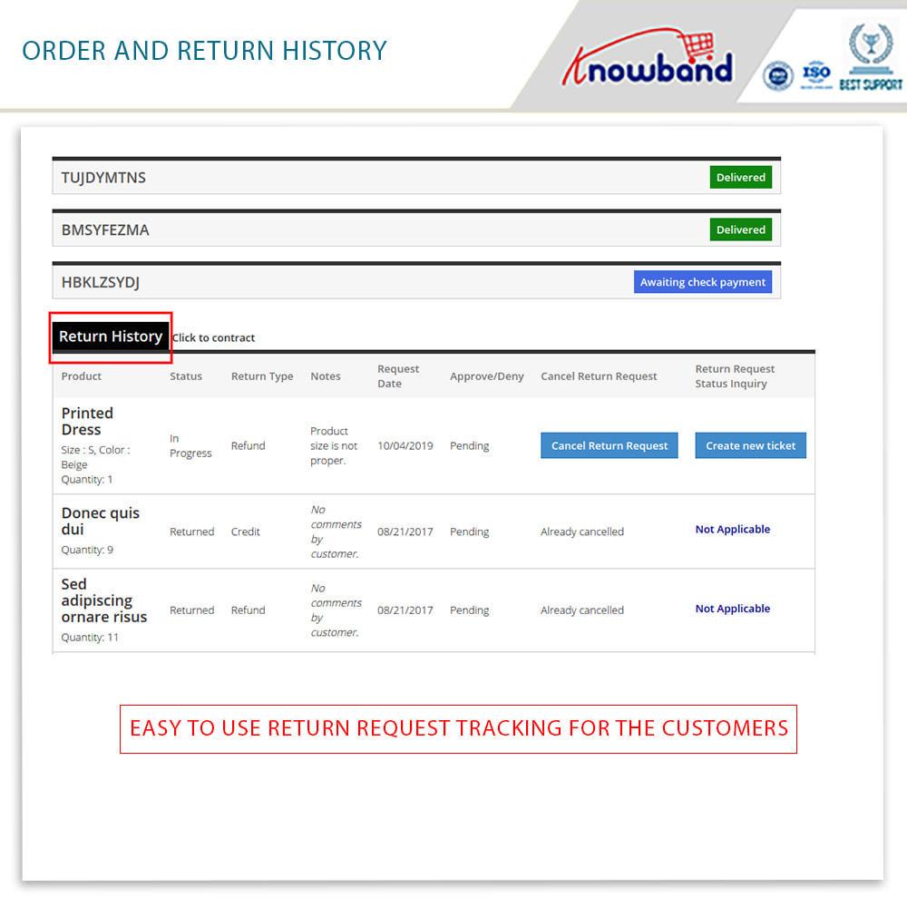 module - Customer Service - Knowband - Order Return Manager(Return Slip & Barcode) - 5